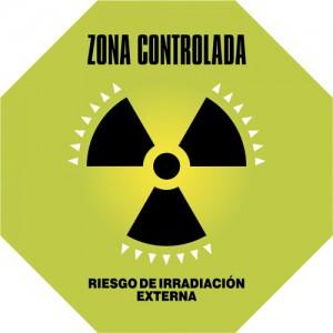 Advertencias. Zona controlada con riesgo de irradiación externa.